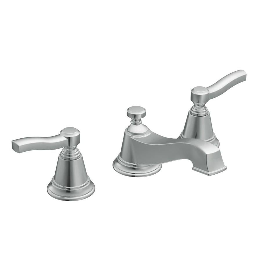 Shop Moen Rothbury Chrome 2 Handle Widespread Bathroom