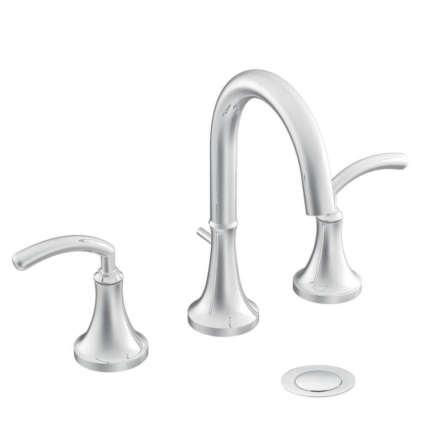 Moen Icon Chrome 2-Handle Widespread WaterSense Bathroom Faucet