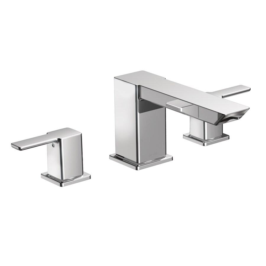 Moen 90 Degree Chrome 2-Handle Adjustable Deck Mount Tub Faucet