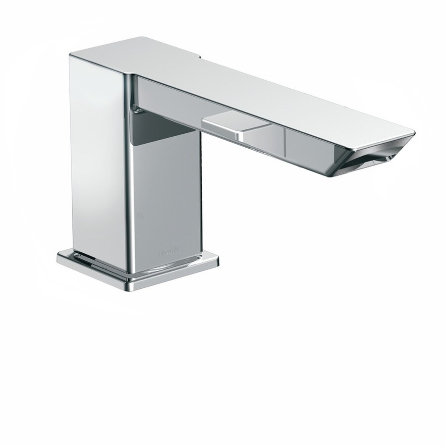 Moen 90 Degree Chrome Touchless-Handle Adjustable Deck Mount Bathtub Faucet