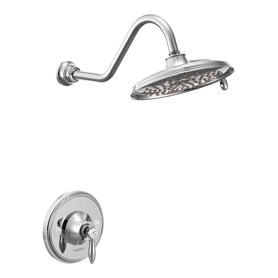Moen Weymouth Chrome 1-Handle Shower Faucet Trim Kit with Single Function Showerhead