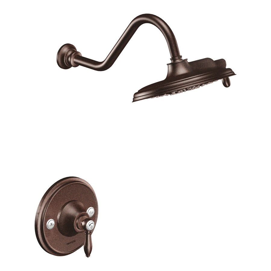 Shop Moen Weymouth Oil Rubbed Bronze 1 Handle Shower Faucet Trim Kit With Single Function