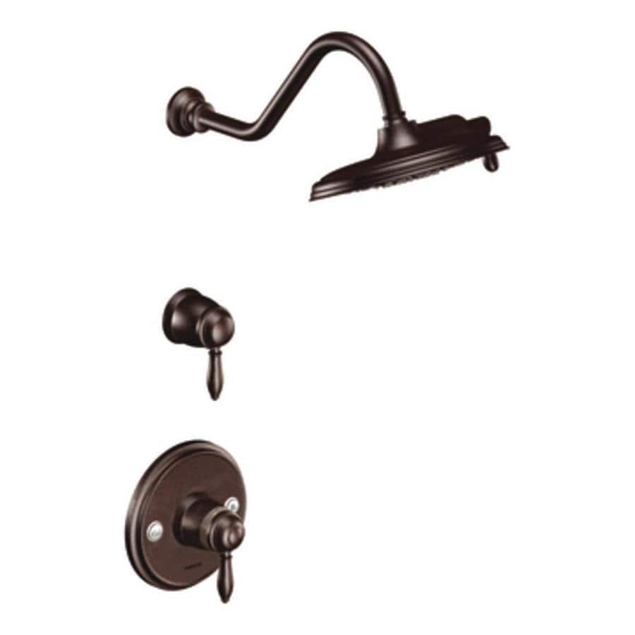 Moen Weymouth Oil Rubbed Bronze 2-Handle Shower Faucet Trim Kit with Rain Showerhead