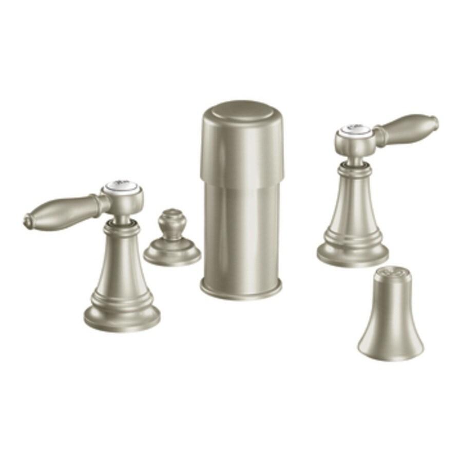Moen Weymouth Brushed Nickel Vertical Spray Bidet Faucet Trim Kit