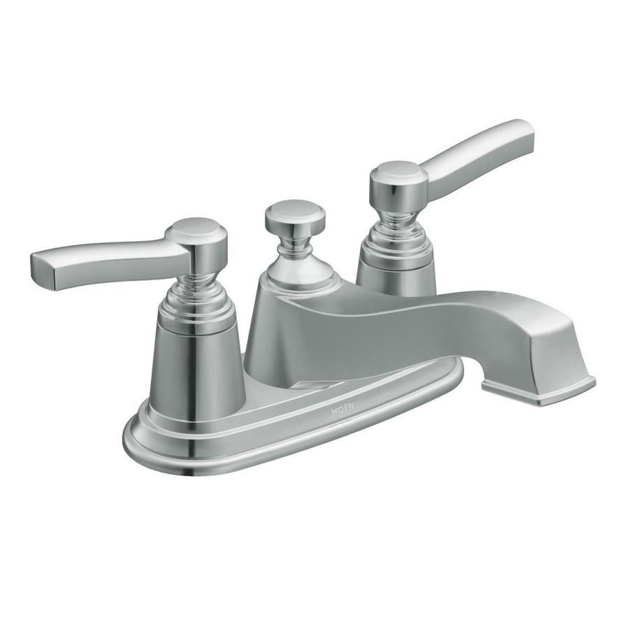 Shop Moen Rothbury Chrome 2 Handle 4 In Centerset