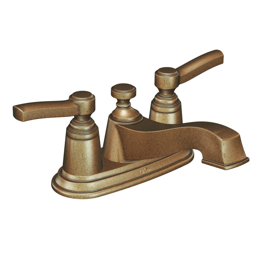 Shop Moen Rothbury Antique Bronze 2 Handle 4 In Centerset Watersense Bathroom Faucet Drain