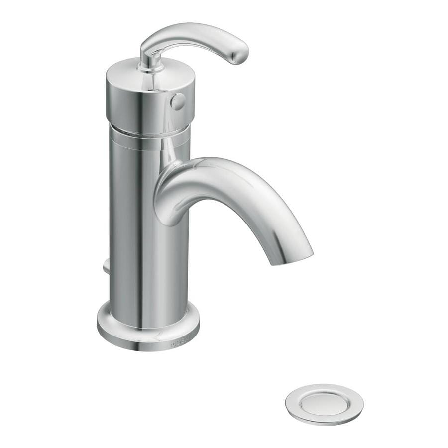 Moen Icon Chrome 1-Handle 4-in Centerset WaterSense Bathroom Faucet (Drain Included)