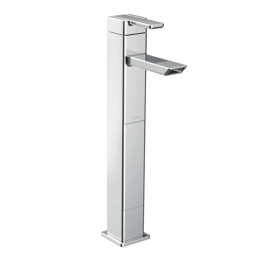 Moen 90 Degree Chrome 1-Handle Single Hole WaterSense Bathroom Faucet