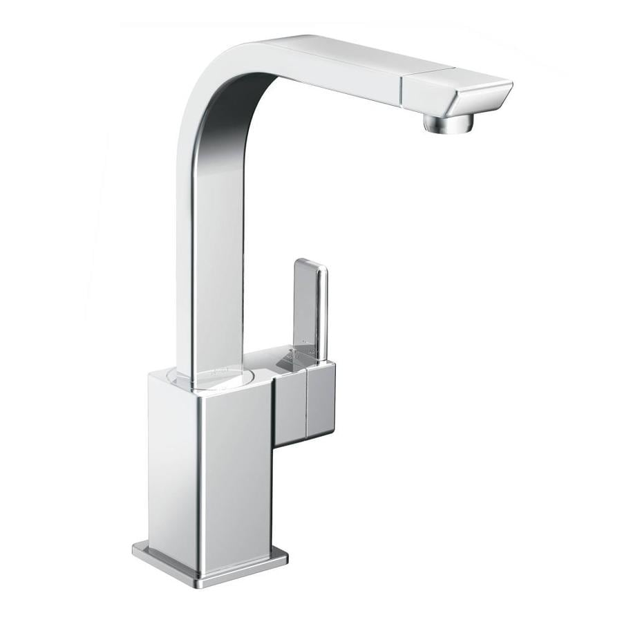 shop moen 90 degree chrome 1 handle high arc kitchen