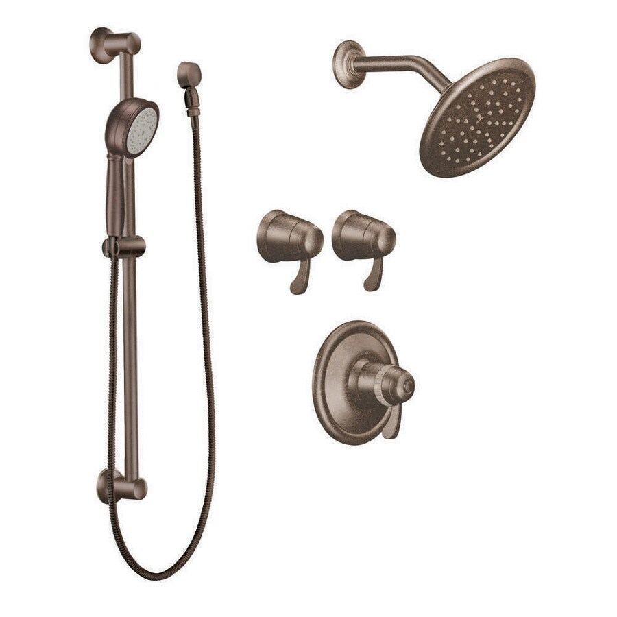 Shop Moen ExactTemp Oil Rubbed Bronze 1-Handle Vertical Shower ...