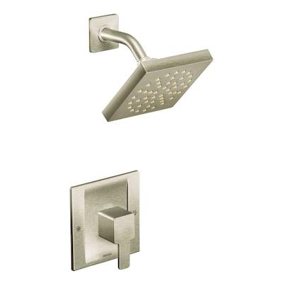 90 Degree Brushed Nickel 1-handle Shower Faucet