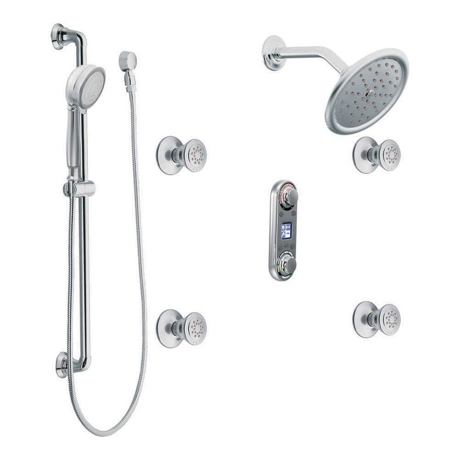 Exceptionnel Moen IoDigital Chrome 1 Handle Vertical Shower System With Multi Head  Showerhead