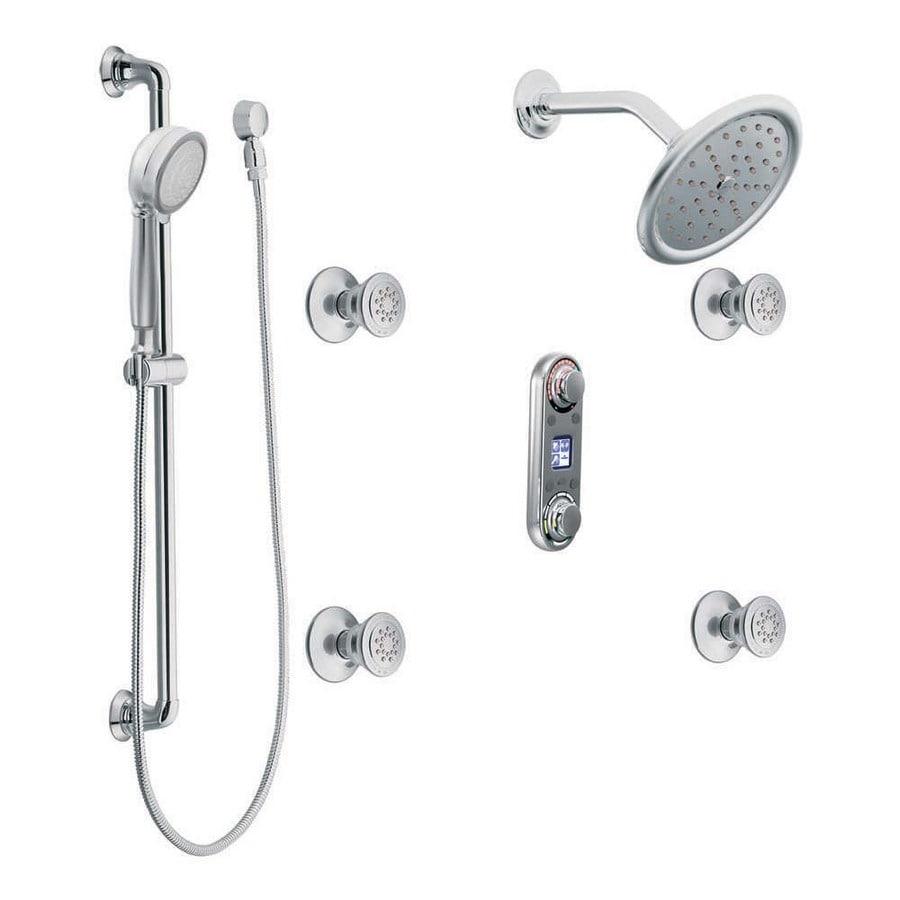 Shop Moen ioDigital Chrome 1-Handle Vertical Shower System with ...