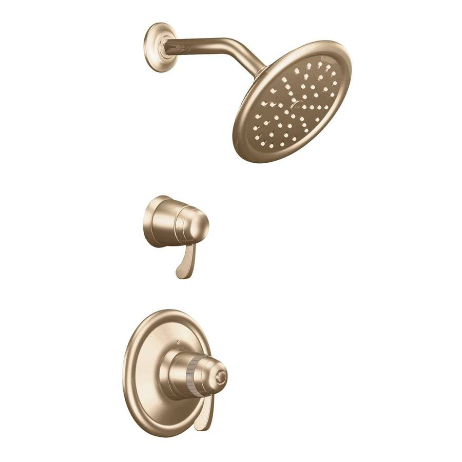 Moen Antique Bronze 2-Handle Vertical Shower System Trim Kit with Rain Showerhead