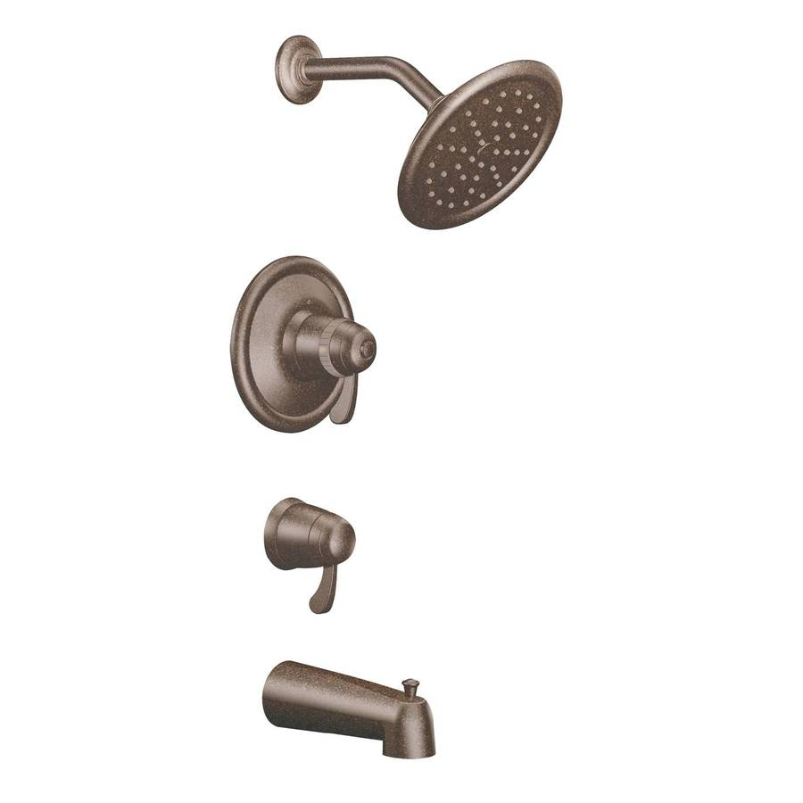Moen Oil-Rubbed Bronze 2-Handle Bathtub and Shower Faucet Trim Kit with Single Function Showerhead