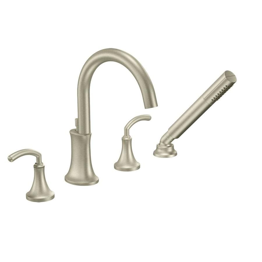Moen Icon Brushed Nickel 2-Handle Adjustable Deck Mount Tub Faucet