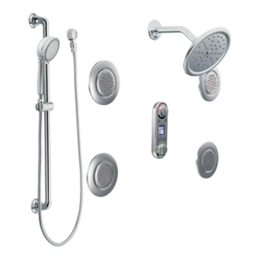Moen Io/Digital Chrome 2 Handle Vertical Shower System Trim Kit With Rain  Showerhead