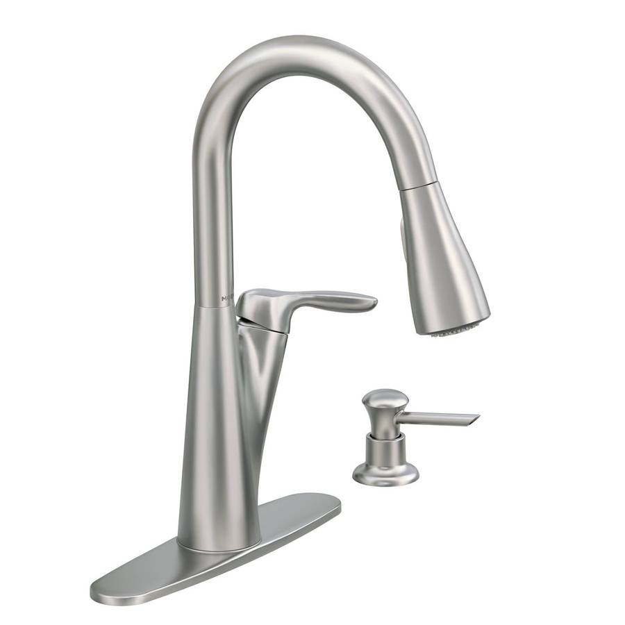 Moen Harlon Spot Resist Stainless 1-Handle Pull-Down Kitchen Faucet