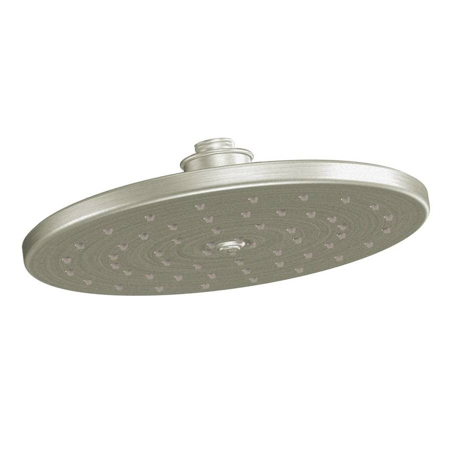 Moen Waterhill 10-in 2.0-GPM (7.6-LPM) Brushed Nickel 1-Spray WaterSense Rain Showerhead