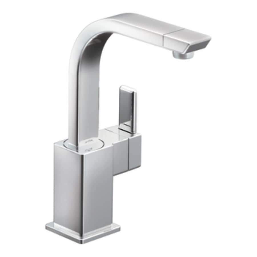 moen 90 degree kitchen faucet shop moen 90 degree chrome 1 handle kitchen faucet at 25210