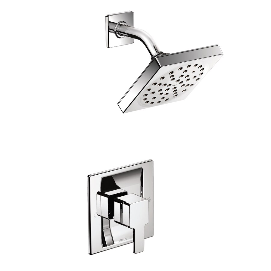 Moen 90 Degree Chrome 1-Handle WaterSense Shower Faucet Trim Kit with Single Function Showerhead