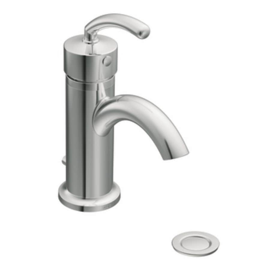 Moen Icon Chrome 1-Handle Single Hole WaterSense Bathroom Faucet (Drain Included)