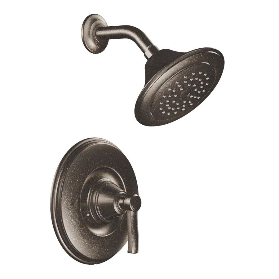 Shop Moen Rothbury Oil Rubbed Bronze 1 Handle Watersense Shower Faucet Trim Kit With Single