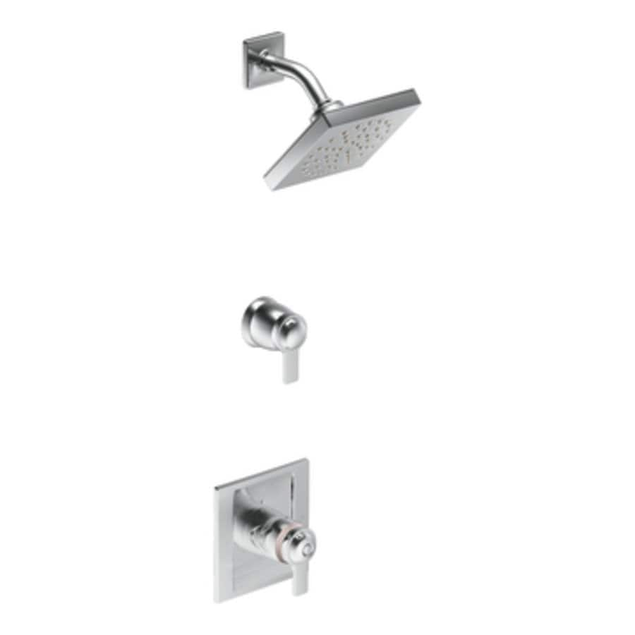 Moen Exacttemp Chrome 2-Handle Handle(S) Included Shower Faucet with Rain Showerhead