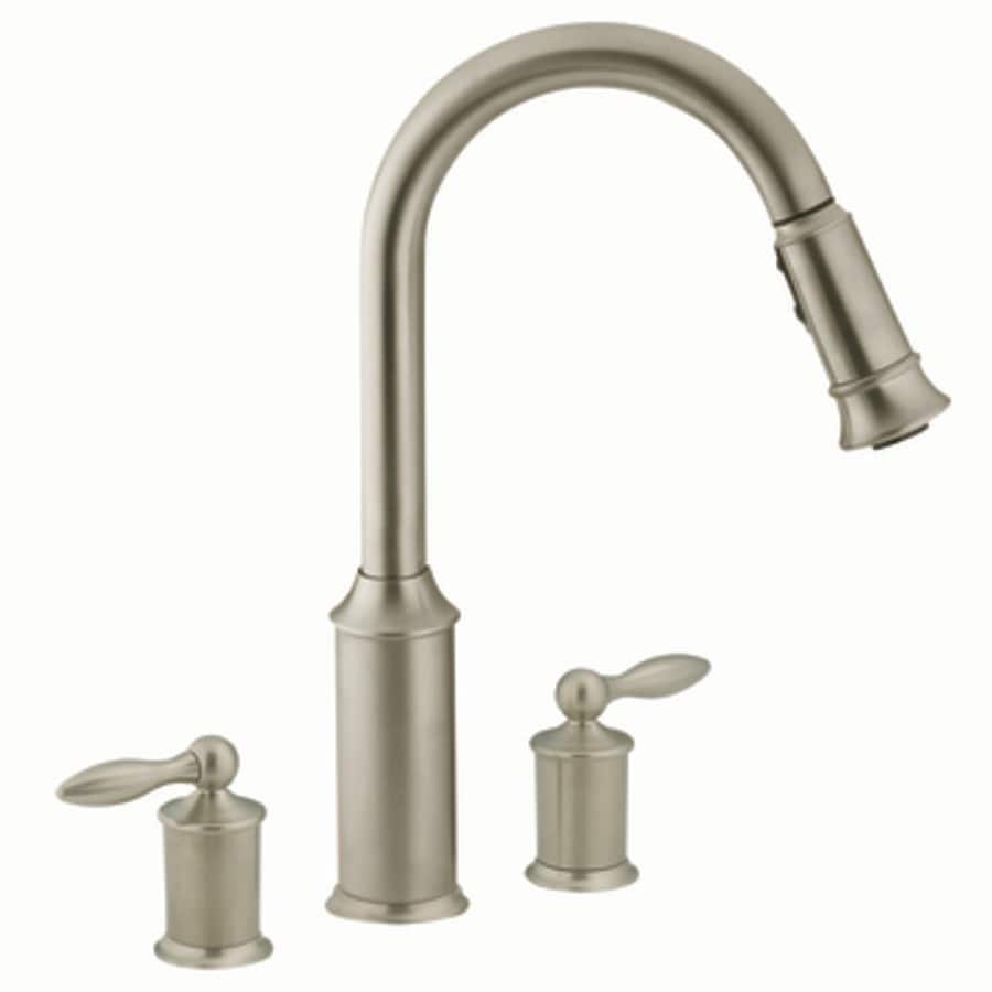 Moen Aberdeen Classic Stainless Pull-Down Kitchen Faucet at ...