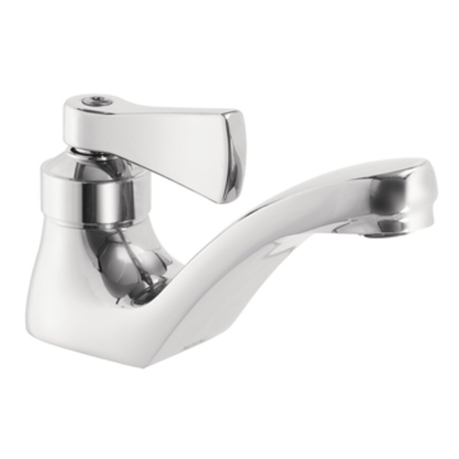 Moen Commercial Chrome 1-Handle Bathroom Sink Faucet (Drain Included)