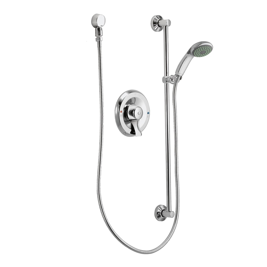 Moen Commercial Chrome 1-Handle WaterSense Shower Faucet with Multi-Head Showerhead
