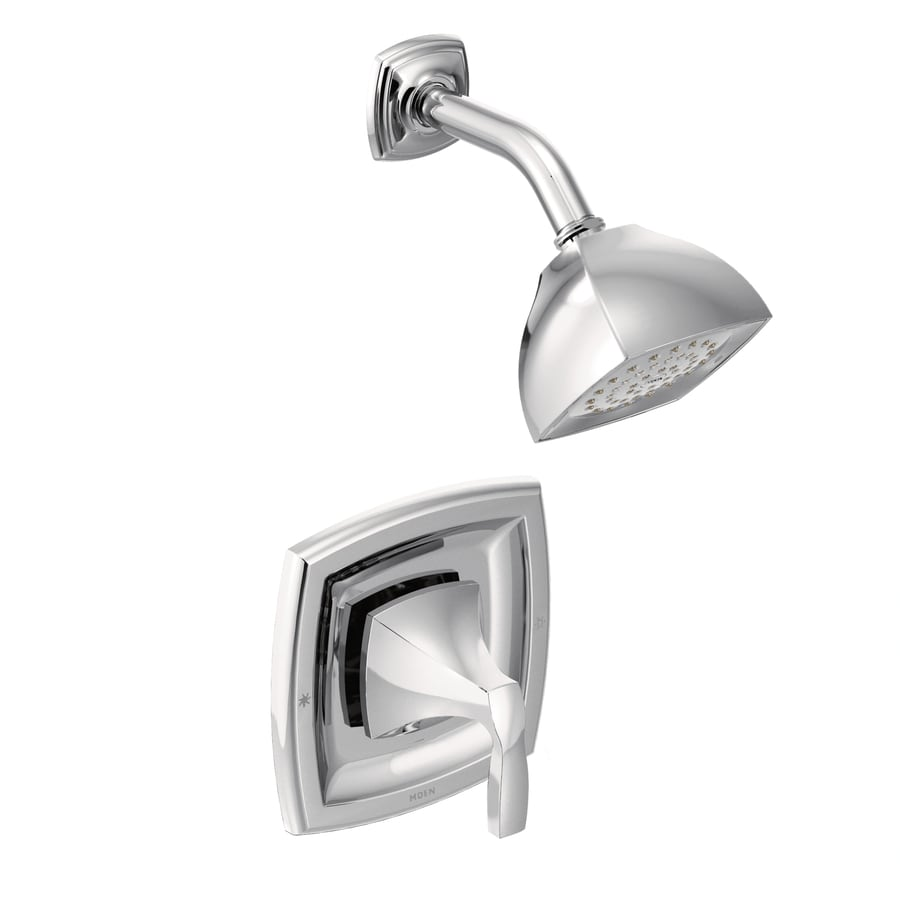 Moen Voss Chrome 1-Handle WaterSense Shower Faucet Trim Kit with Single Function Showerhead