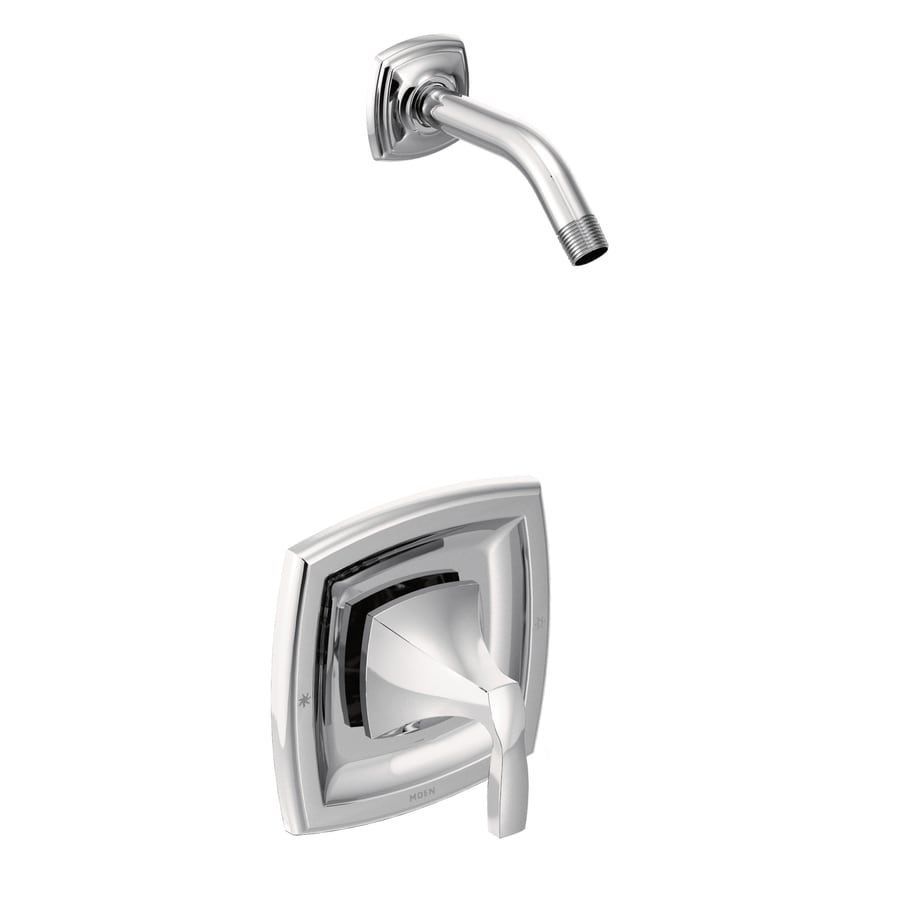Moen Voss Chrome 1-Handle Shower Faucet Trim Kit with Sold Separately Showerhead