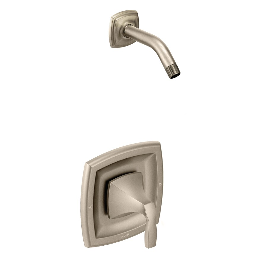 Moen Voss Brushed Nickel 1-Handle Handle(S) Included Shower Faucet with Sold Separately Showerhead