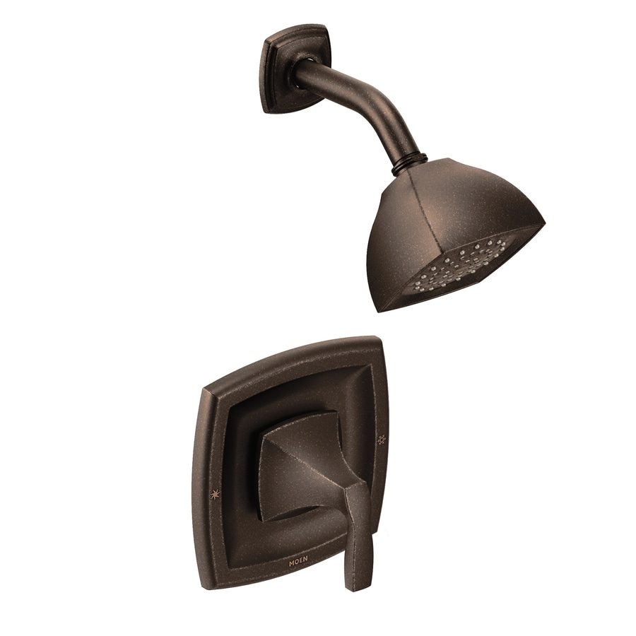 Moen Voss Oil-Rubbed Bronze 1-Handle Shower Faucet Trim Kit with Single Function Showerhead