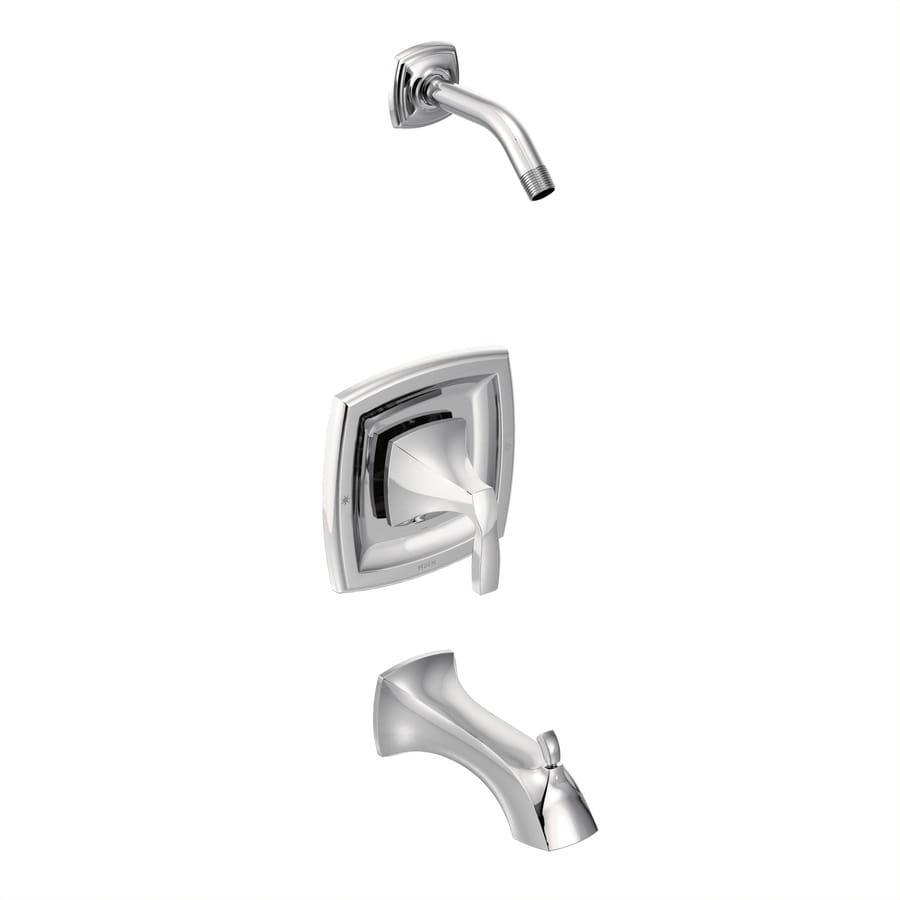 Moen Voss Chrome 1-Handle Bathtub and Shower Faucet Trim Kit with Sold Separately Showerhead