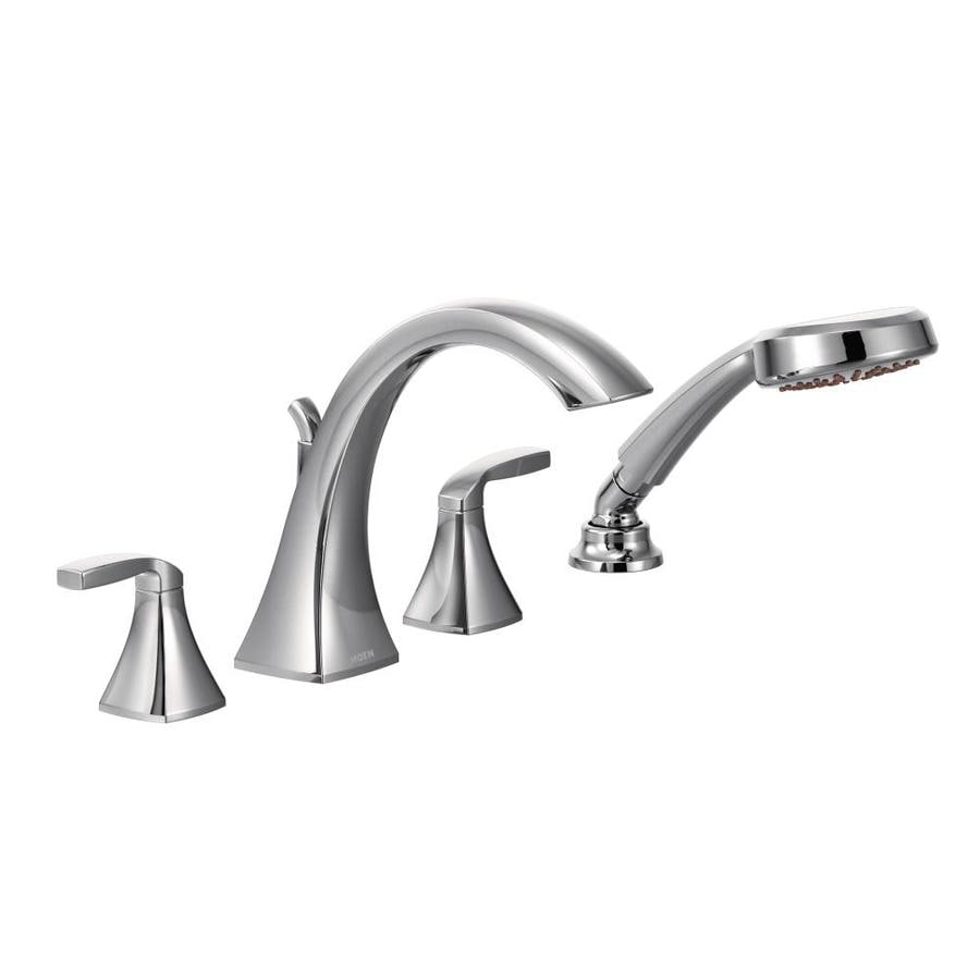 Moen Voss Chrome 2-Handle -Handle Adjustable Deck Mount Tub Faucet