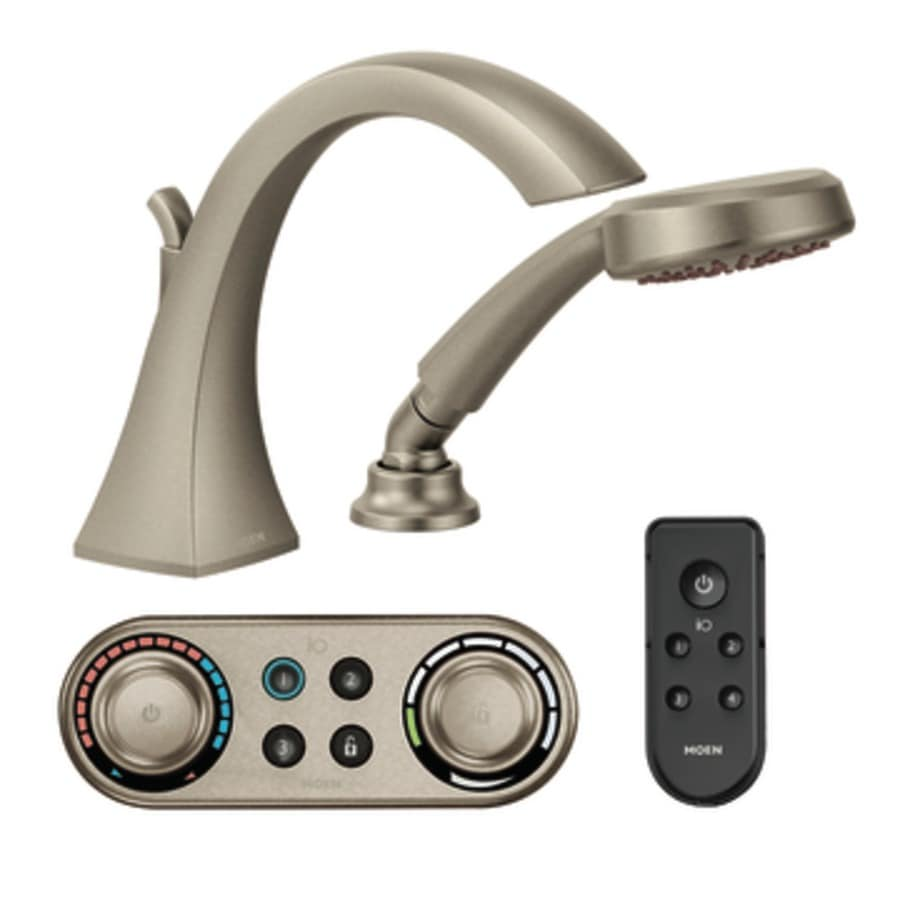 Moen Voss Brushed Nickel Touchless Adjustable Deck Mount Bathtub Faucet