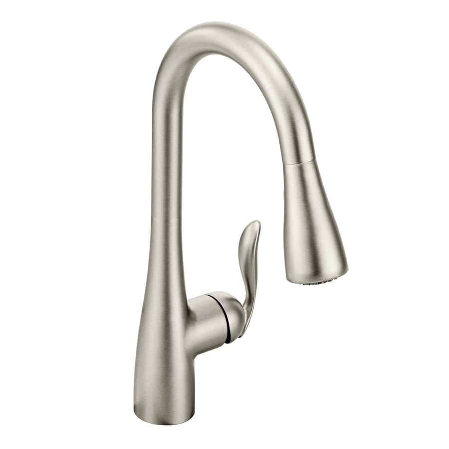 Shop Moen Arbor Spot Resist Stainless 1-Handle Deck Mount Pull-Down ...