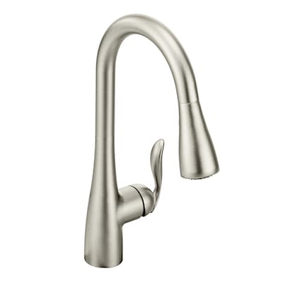 Arbor Spot Resist Stainless 1-Handle Deck Mount Pull-down  Commercial/Residential Kitchen Faucet