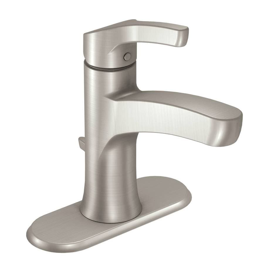 Moen Danika Spot Resist Brushed Nickel 1 Handle 4 In Centerset
