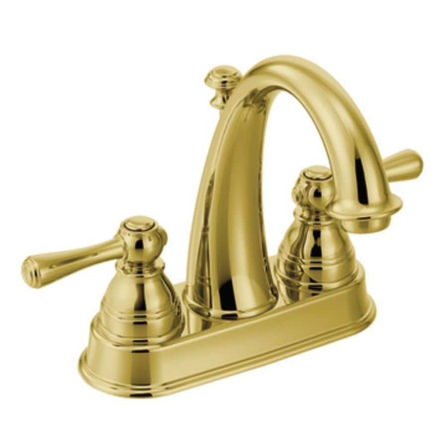 Moen Kingsley Polished Brass 2 Handle 4 In Centerset