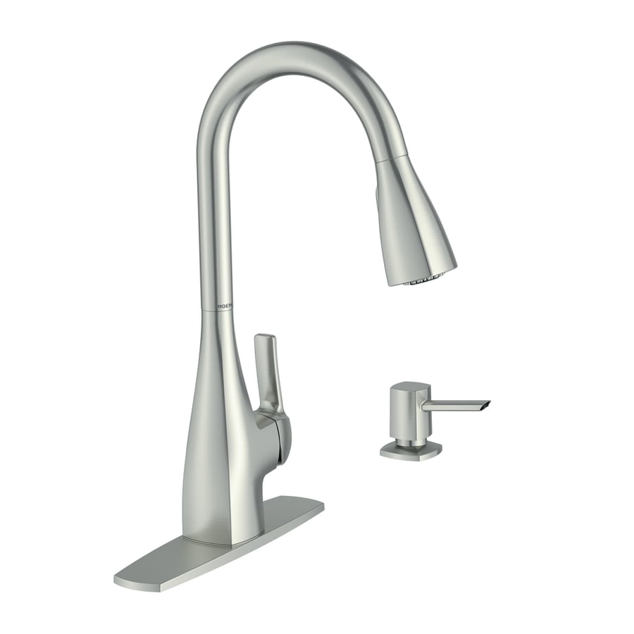 Shop Moen Kiran Spot Resist Stainless 1-Handle Pull-Down Kitchen ...
