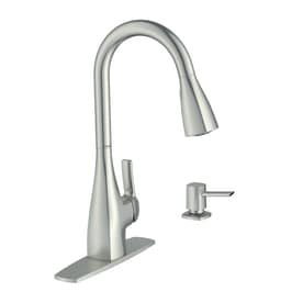 Moen 87599 Pullout Spray High-Arc Kitchen Faucet with Reflex Technology and Soap Dispenser