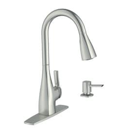 9ce5f7c24a6 Moen Kiran Spot Resist Stainless 1-Handle Pull-Down Kitchen Faucet