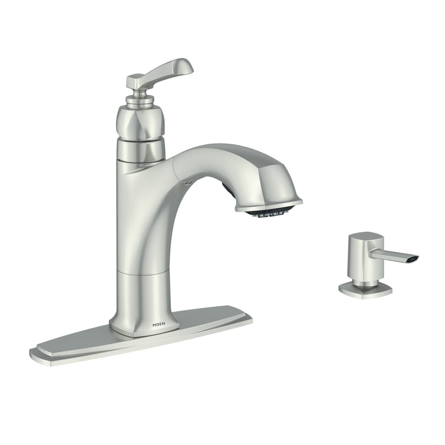 Moen Boardwalk Spot Resist Stainless 1-Handle Deck Mount Pull-Out Kitchen Faucet