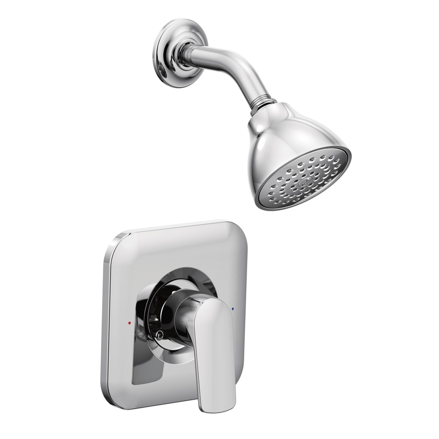 Moen Rizon Chrome 1-Handle Shower Faucet Trim Kit with Single Function Showerhead