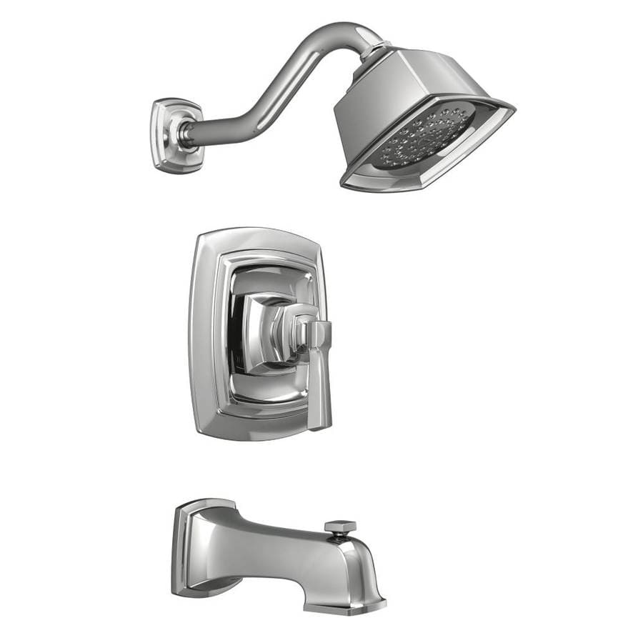 Moen Boardwalk Chrome 1-Handle WaterSense Bathtub and Shower Faucet with Single Function Showerhead