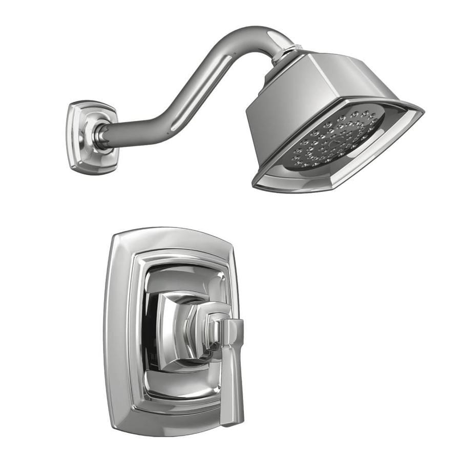 Shop moen boardwalk chrome 1 handle shower faucet with valve at - Moen shower faucet ...