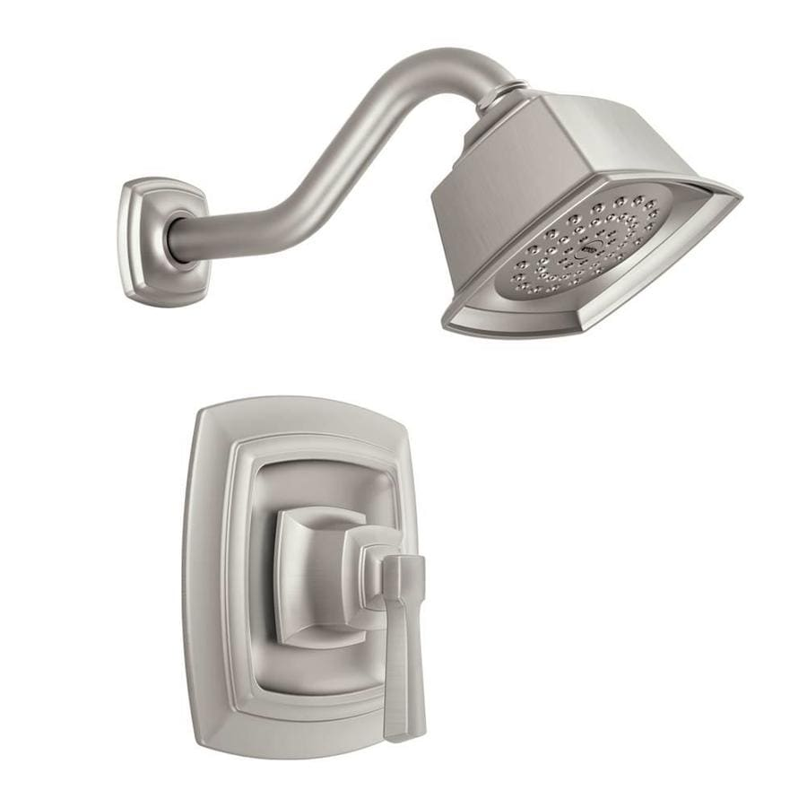 one piece shower faucet. Moen Boardwalk Spot Resist Brushed Nickel 1 handle Shower Faucet with Valve Shop Faucets at Lowes com